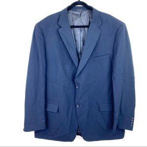Joseph & Feiss Navy Blue Wool Single Breast Blazer